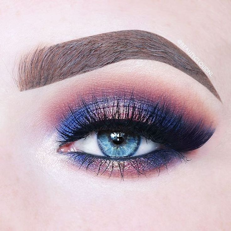 Shimma Shimma, brow bone. Peach Smoothie,  transition. Bitten, crease. Prism, inner corner. Center stage, inner and outer thirds. Wildfire, center of the lid. Add #RoyalSinner (Classic) #eyelashes by #MinkiLashes only $37 https://minkilashes.com/product/royalsinner-sin-your-way-to-royalty-faux-lashes/  #blueeyes #makeupartist #beautytips #tutorial #gorgeous