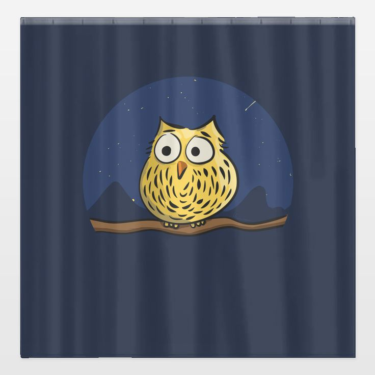 Cutest shower curtain ever with this cute owl on it! Design by Richard Eijkenbroek. Check it out at BoomBoomPrints.com! https://www.boomboomprints.com/Product/eijkenbroek/Cute_little_owl/Shower_Curtains/Standard-71x74/