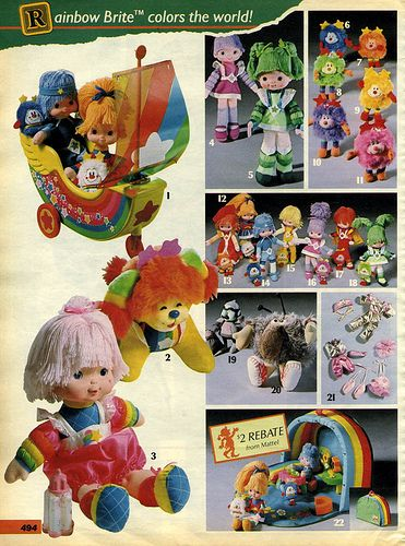 """Sears """"Wish Book"""" Christmas catalog: Rainbow bright. Can you guess what I asked got for Christmas that year?"""