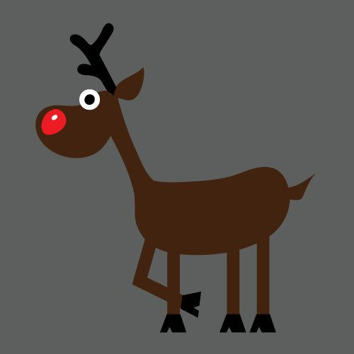 Renifer Boże Narodzenie Okno Naklejka Naklejka przez ArtzeeAccents na Etsy