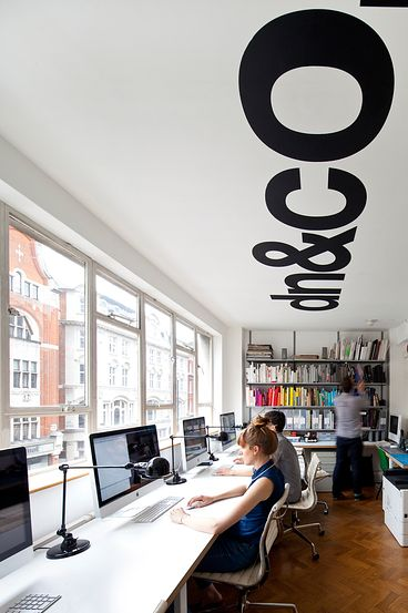 Possible co-op office layout?? Office wall stickers. #officeinterior #agencydecor Visit us at www.wer1digital.co.uk