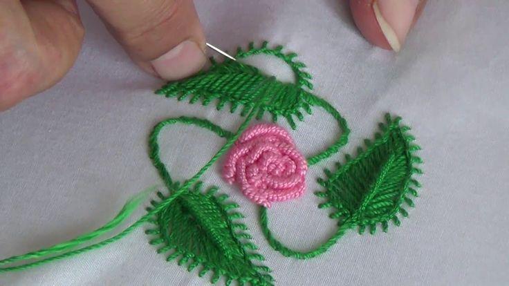 Hand Embroidery:Leaf stitch