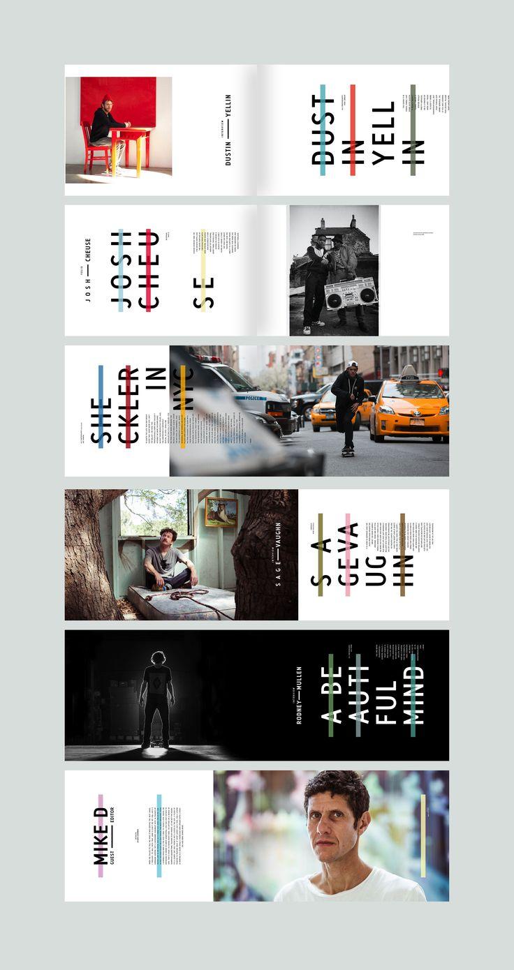 Mike D Issue. Issue 43. #editorialdesign #layout #typography #monsterchildren #printdesign