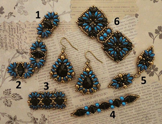 Linda's Crafty Inspirations: Marquesa Earrings and bracelet samples
