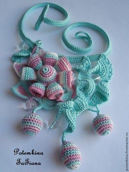 """Колье """"Фея нежнейшего зефира"""" - бирюзовый,нежно розовый,нежный,нежный подарок"""