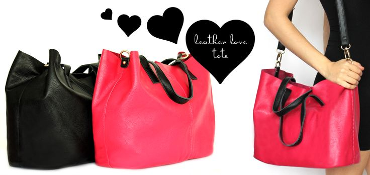 Gorgeous new arrival! Leather Love Tote, shop online now! http://niclaire.com.au/category/60-shoulder-bags-totes.aspx #handbag #tote #fashion #leatherbag #leatherhandbag #ladieshandbag