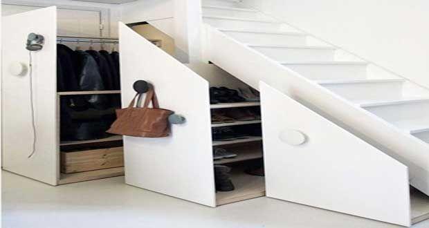 Sous l'escalier, un espace à optimiser pour gagner un maximum de place.Bureau, placard, dressing, rangement des chaussures, idées pour aménager l'espace sous escalier