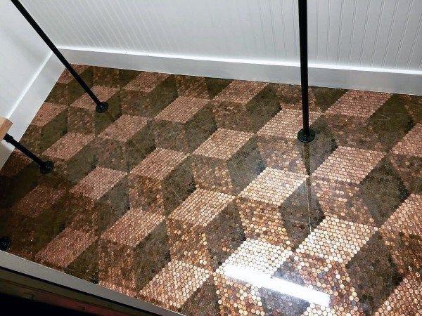 Top 60 Best Penny Floor Design Ideas