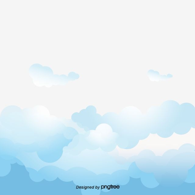 Blue And White Clouds Vector Watercolor Ink Cartoon Png Transparent Clipart Image And Psd File For Free Download Cloud Vector Clouds White Clouds