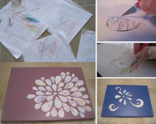Turn your Child's Scribble into Wall Art