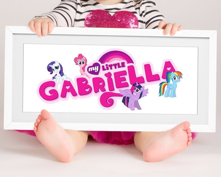 A personal favourite from my Etsy shop https://www.etsy.com/uk/listing/569565351/my-little-pony-name-baby-name-sign-girls