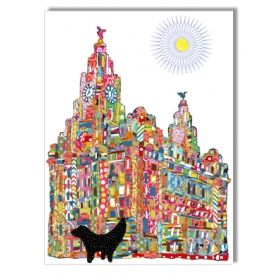 I came across the work of Tula Moon today whilst having a peek in the shop. Absolutley love it! I can't decide which is my favourite! 'Patchwork Sunny LiverBuilding & Lambanana' Greetings Card