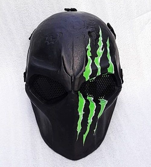 Airsoft Mask Paintball Full Face Protection Mask. - Withstand the hit of high power airsoft rifle. - Materials: Fiberglass and metal mash made. All mask made by handmade product. - Adjustable Belt Strap. | eBay!
