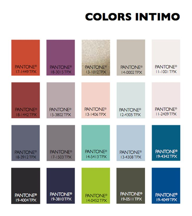 Color Usage Women's Intimate Apparel