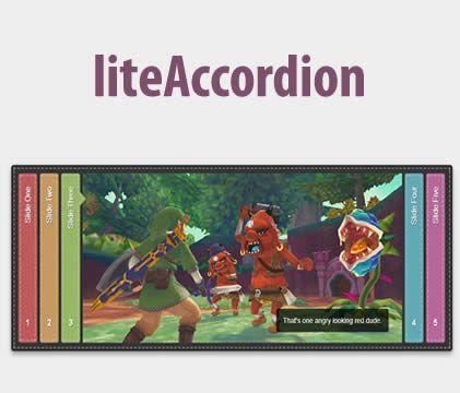 liteAccordion – Responsive Horizontal Accordion jQuery Plugin