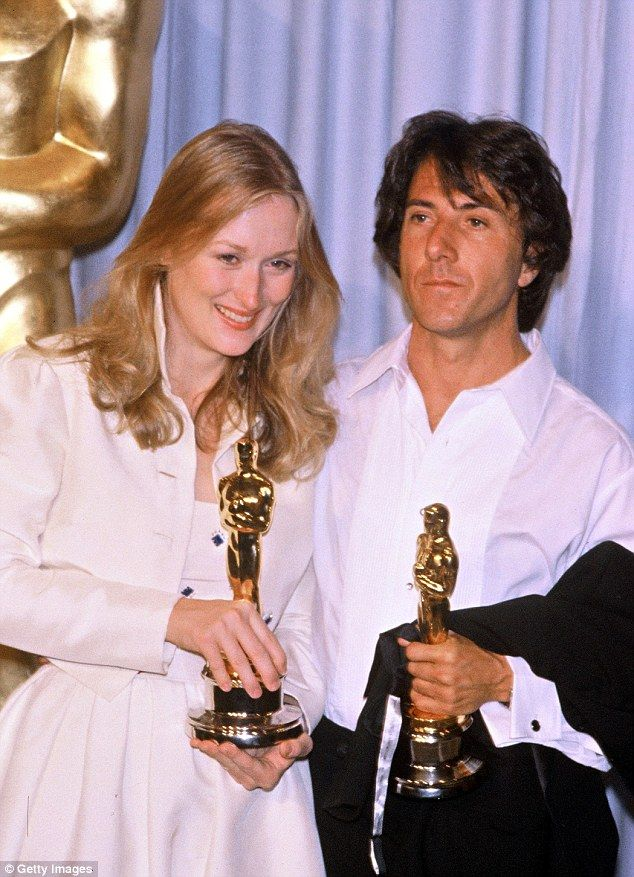 Her first win! Streep snagged a Best Supporting Actress Oscar for her role in Kramer vs. Kramer in 1979, pictured alongside fellow winner an...