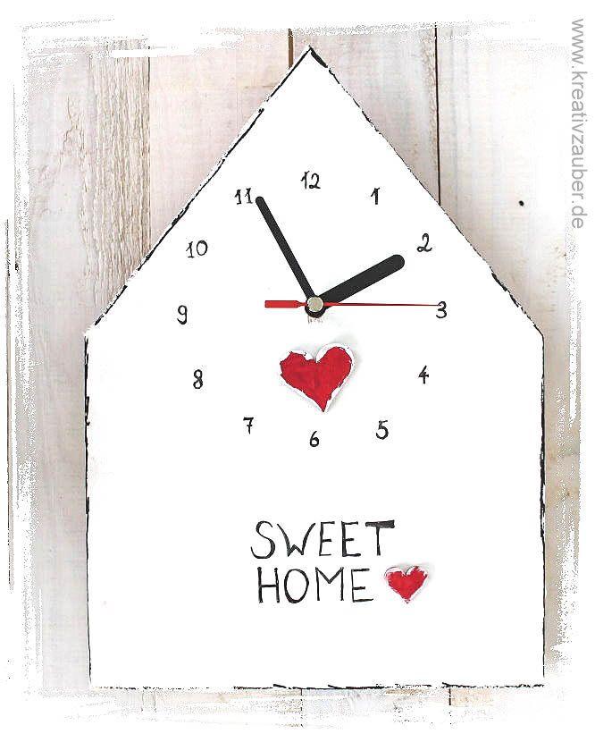 Uhrzeiger selber basteln  119 besten Uhren selber bauen ☆ Uhrenbasteln Bilder auf Pinterest ...