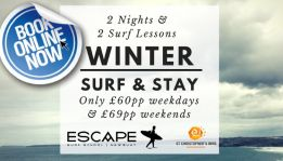 Stag & Hen at Escape Surf School in Newquay