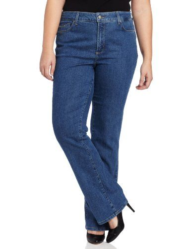 NYDJ Women's Plus-Size Marilyn Classic Straight Jeans