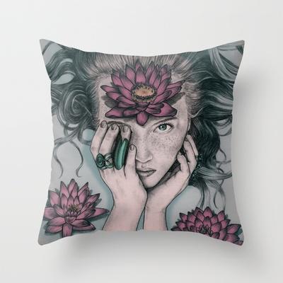 Liquid Flower Throw Pillow by Sofia Azevedo - $20.00