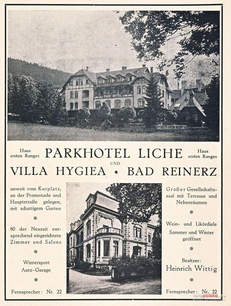"""Sanatorium """"Zimowit"""" - Pawilon I (Park Hotel Liche, Parkhotel), Duszniki-Zdrój - 1925 rok, stare zdjęcia"""