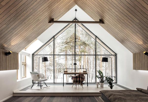 Total wood and brightness in a russian house by YYdesign