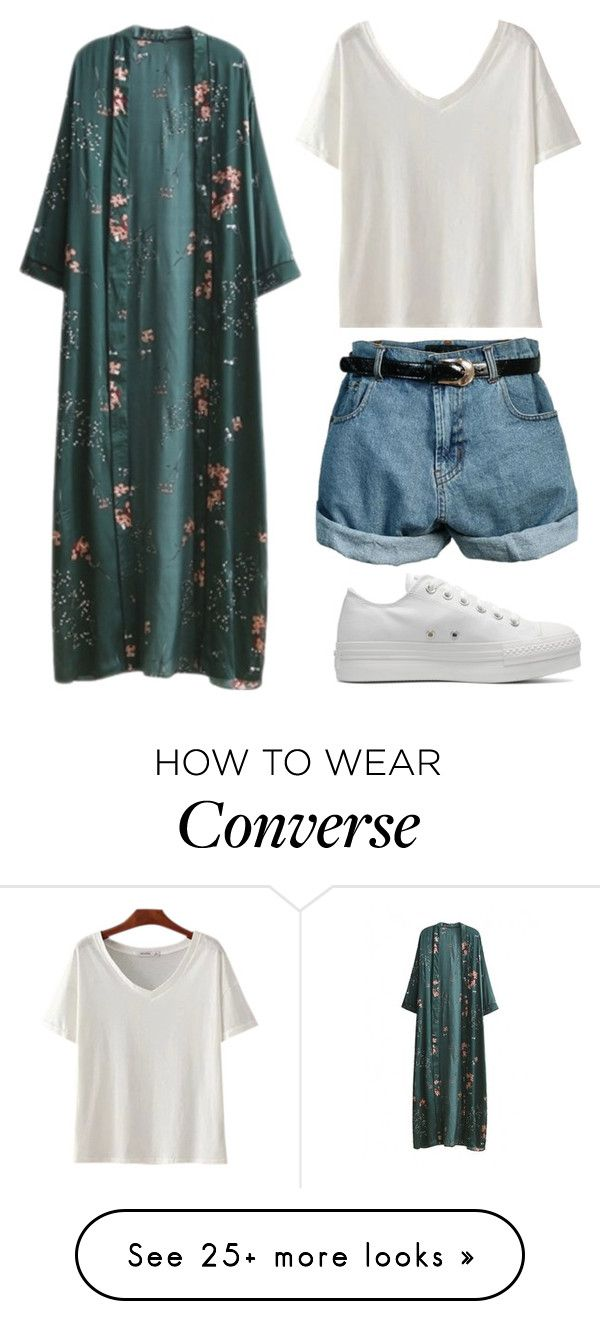 """""""Untitled #1032"""" by noellescholte on Polyvore featuring WithChic, Retrò and Converse"""