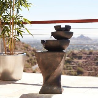Shop for Modern Tiered Bowls Water Fountain. Get free shipping at Overstock.com - Your Online Garden & Patio Outlet Store! Get 5% in rewards with Club O! - 15555946