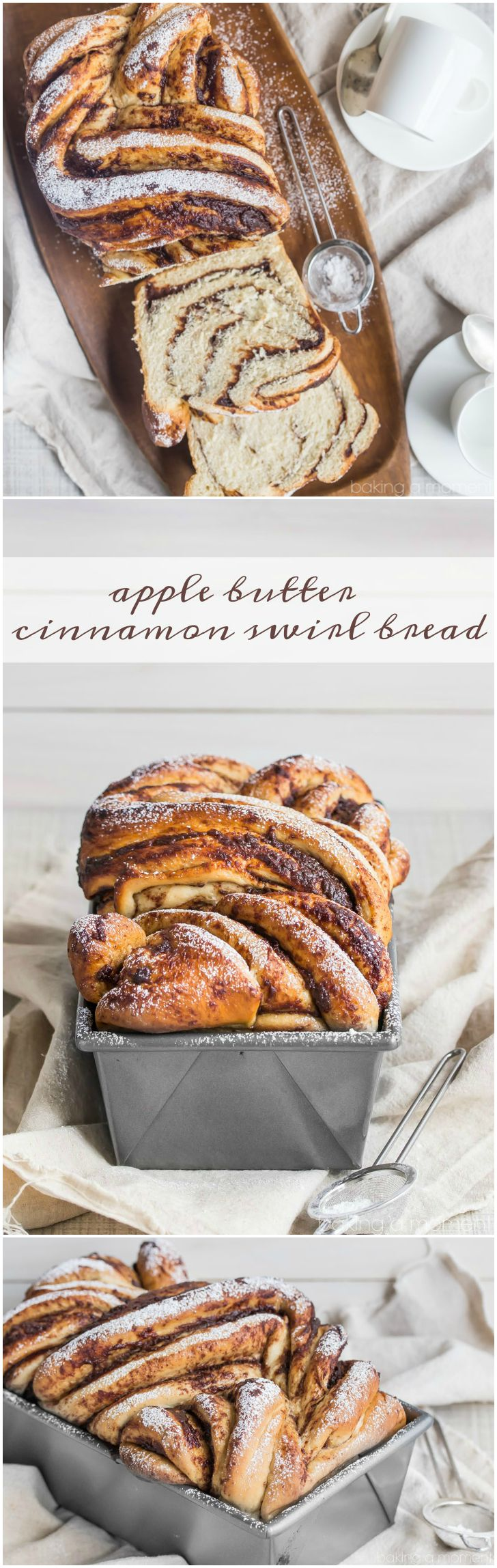 Apple Butter Cinnamon Swirl Bread- This bread was easy to make, so moist, and had plenty of apple butter and cinnamon sugar in every bite. My family loved it!  food breads apple