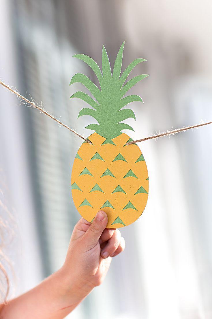 Kupfer Fotorahmen von einer tropischen Ananas