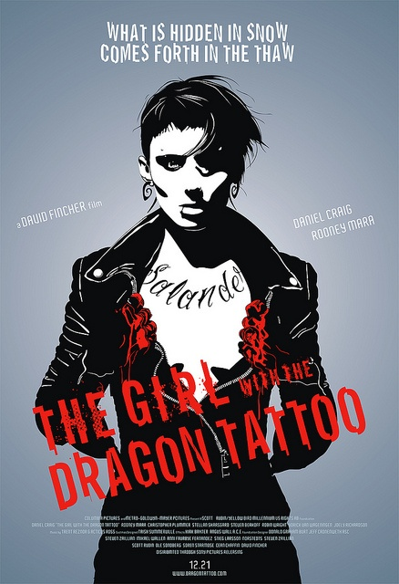 The Girl with the DRAGON TATTOO film art by luciferbeck, via Flickr