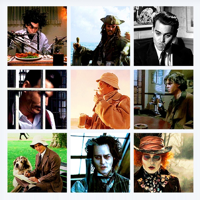 Johnny Depp Characters Collage