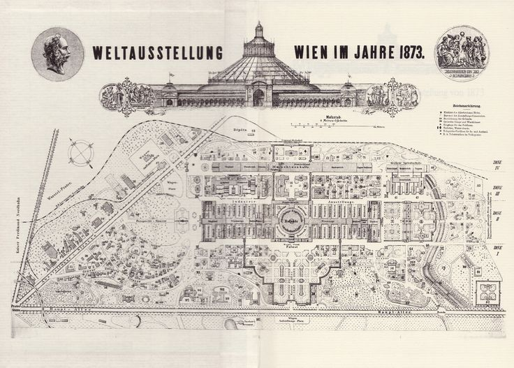 At Wien 1873 there were almost 26,000 exhibitors housed in the different buildings erected for this exposition, including the large circular building in the great park of Prater by John Scott Russell: the Rotunde.