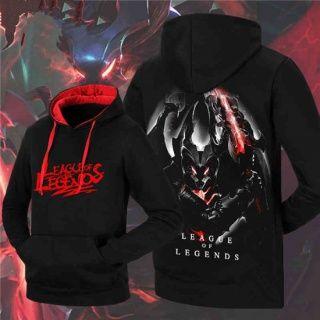 Mens Aatrox XXXL black hoodie from game League of Legends