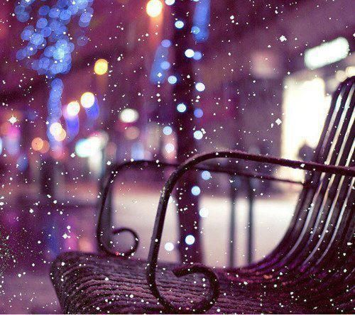 Snow that looks like glitter.: Winter Snow, Snow Fall, Parks Benches, Christmas Lights, Snow Pictures, Winter Wonderland, White Christmas, Wintersnow
