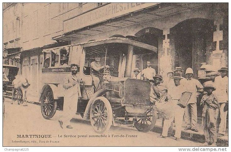CPA MARTINIQUE FORT DE FRANCE Le Service Postal Automobile Poste Animation