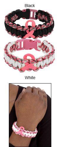 Pink Ribbon Paracord Bracelet at The Veterans Site