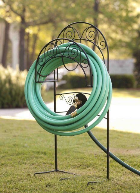 Garden Hose Hanger Holder Storage Watering Organizer Patio Water Yard  Outdoor