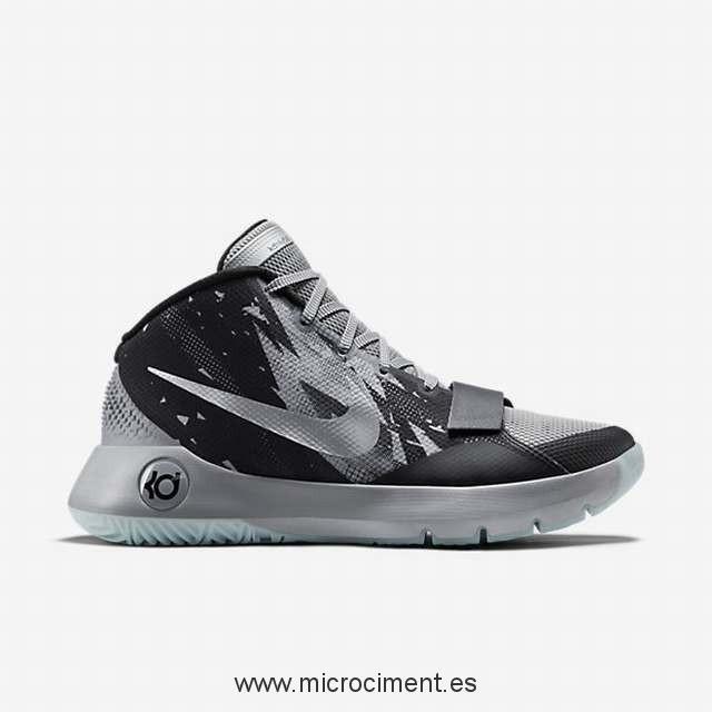Nike Hombre KD Trey 5 III Premium Basketball Zapatos - Negro/Wolf  Gris/Metallic