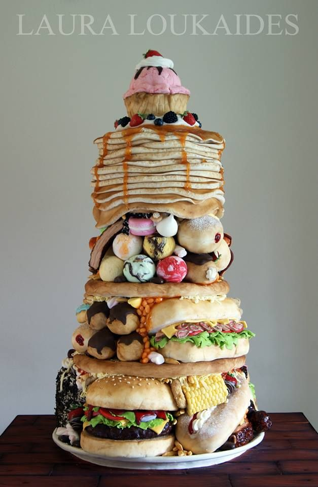 One of THE most incredible sculpted cakes we've seen, by Laura Loukadis Cakes