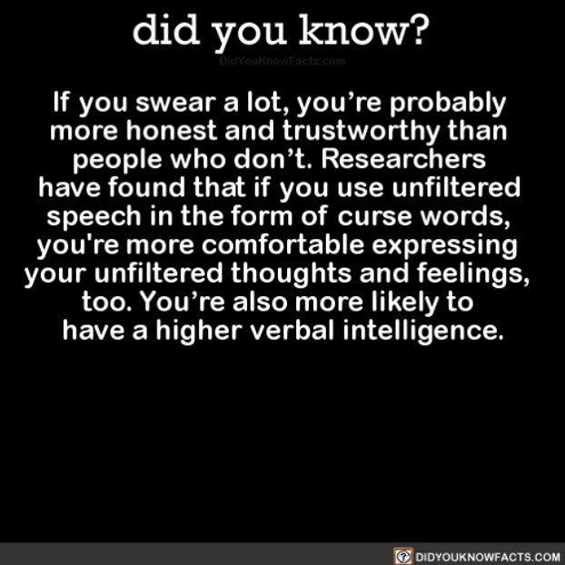 yeah I'm intelligent! #interesting #verbal #swearing #words Download our free App: [LINK IN BIO]