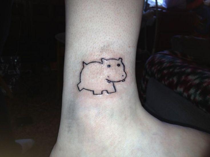 Tattoo: Hippo cute
