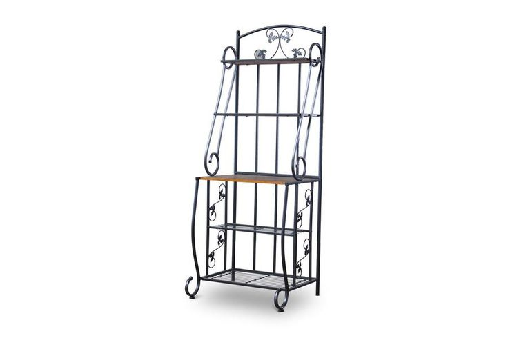 Pomona Wood and Metal Transitional Baker's Rack—High WL-0469-WI