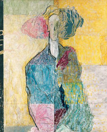 Ilka Gedő, 'Self Portrait with a Strawhat', 1984