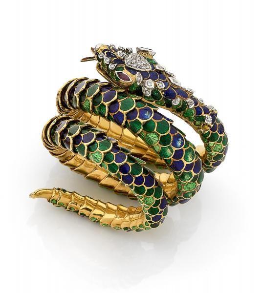 Extrêmement Les 25 meilleures idées de la catégorie Bracelet serpent sur  FL63