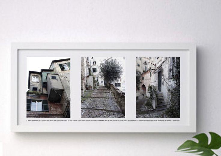 Cornice foto Genova vicoli