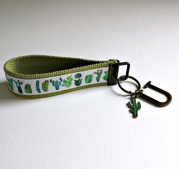 UTAH Keychain Wristlet Key Fob Wristlet Cactus Charm Key