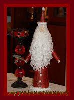 Χειροτεχνίες: Άγιος Βασίλης από ανακυκλώσιμα υλικά