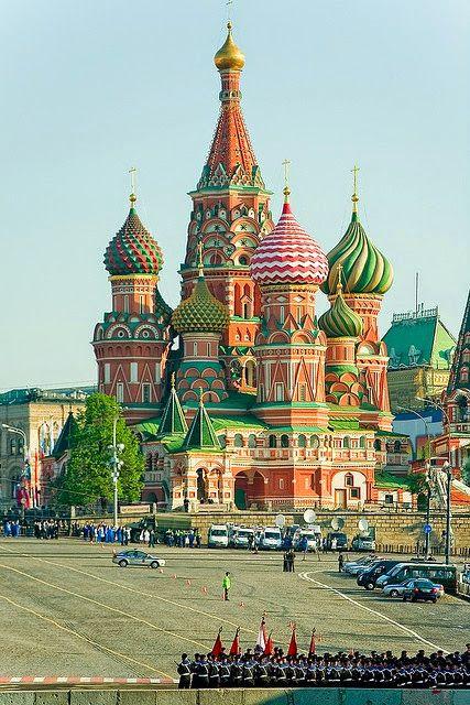 Saint Basil Cathedral, Moscow, Russia (Catedral de San Basilio, Moscú, Rusia)  Red Square (Plaza Roja) - : Собор Василия Блаженного