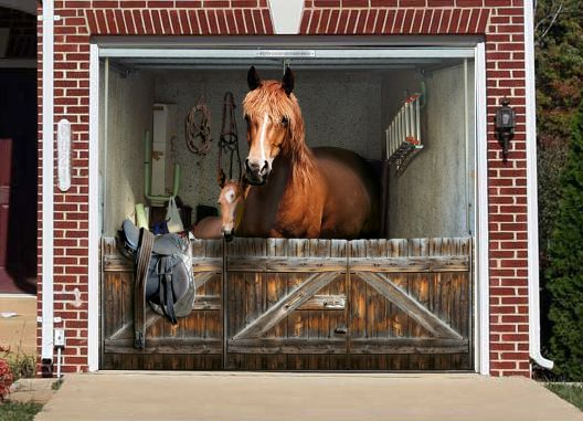 Garage Murals Horse Stable Garage Door Mural Zero To